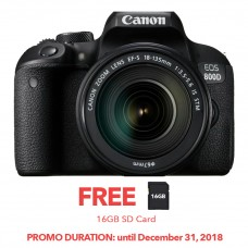 Canon EOS 800D DSLR with 18-135 IS STM KIT