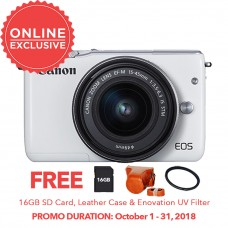 CANON EOS M10 with 15-45mm WHITE