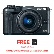 CANON EOS M6  with 15-45mm BLACK