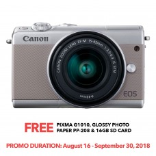 CANON EOS M100 GRAY WITH 15-45MM LENS [ONLINE PRICE]