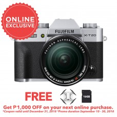 FUJIFILM X-T20 WITH 18-55MM SILVER (KIT) [ONLINE PRICE]