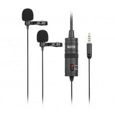BOYA BY-M1DM DUAL OMNI-DIRECTIONAL LAVALIER MICROPHONE [ONLINE EXCLUSIVE]