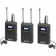 BOYA BY-WM8 PRO-K2 UHF DUAL-CHANNEL LAVALIER WIRELESS MIC SYSTEM