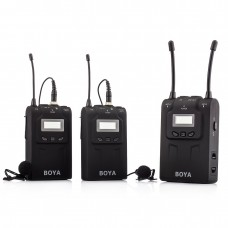 BOYA BY-WM8 UHF Dual-Channel Wireless Lavalier Microphone System