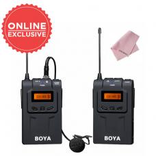 BOYA BY-WM6 UHF PROFESSIONAL OMNI-DIRECTIONAL WIRELESS LAVALIER MICROPHONE SYSTEM