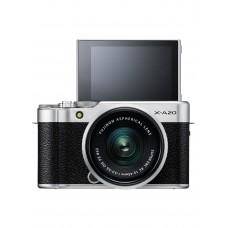 FUJIFILM X-A20 W/ 15-45MM II SILVER FREE 16GB SD CARD