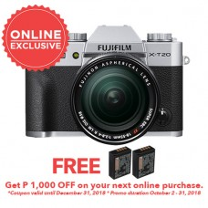 FUJIFILM X-T20 WITH 18-55MM SILVER (KIT)