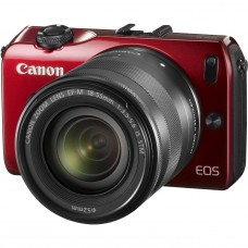 CANON EOS M BODY (RED) W/ 18-55MM STM