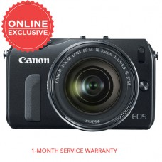 CANON EOS M BODY (BLACK) W/ 18-55MM STM [CLEARANCE SALE]