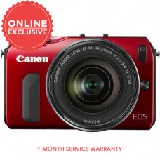 CANON EOS M BODY (RED) W/ 18-55MM STM [CLEARANCE SALE]