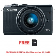 CANON EOS M100 BLACK WITH 15-45MM LENS [FREE FROM DECEMBER 10-16,2018 VSGO DDA-3 MOLINE AIR BLOWER]