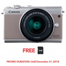 CANON EOS M100 GRAY WITH 15-45MM LENS [FREE FROM DECEMBER 10-16,2018 VSGO DDA-3 MOLINE AIR BLOWER]