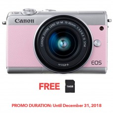 CANON EOS M100 PINK WITH 15-45MM LENS [FREE FROM DECEMBER 10-16,2018 VSGO DDA-3 MOLINE AIR BLOWER]