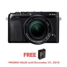 FUJIFILM X-E3 MIRRORLESS DIGITAL CAMERA WITH 18-55 (BLACK) [FREE FROM DECEMBER 10-16,2018 VSGO DDA-3 MOLINE AIR BLOWER]
