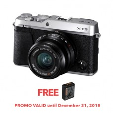 FUJIFILM X-E3 MIRRORLESS DIGITAL CAMERA WITH 23MM F/2 LENS (SILVER) [FREE FROM DECEMBER 10-16,2018 VSGO DDA-3 MOLINE AIR BLOWER]