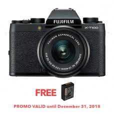 FUJIFILM X-T100 BLACK (W/15-45) [FREE FROM DECEMBER 10-16,2018 VSGO DDA-3 MOLINE AIR BLOWER]
