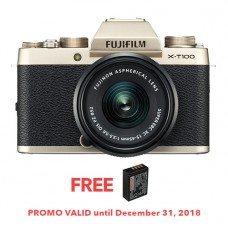 FUJIFILM X-T100 CHAMPAGNE GOLD (W/15-45) [FREE FROM DECEMBER 10-16,2018 VSGO DDA-3 MOLINE AIR BLOWER]