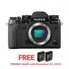 Fujifilm X-T2 (BODY) [FREE FROM DECEMBER 10-16,2018 VSGO DDA-3 MOLINE AIR BLOWER]