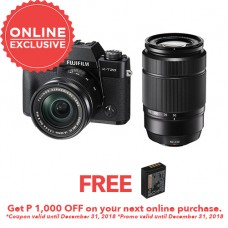 FUJIFILM X-T20 WITH 16-50MM AND 50-230 BLACK (KIT) [FREE FROM DECEMBER 10-16,2018 VSGO DDA-3 MOLINE AIR BLOWER]