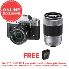 FUJIFILM X-T20 WITH 16-50MM AND 50-230MM SILVER (KIT) [FREE FROM DECEMBER 10-16,2018 VSGO DDA-3 MOLINE AIR BLOWER]