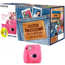 FUJIFILM MINI 9 DENIM PACKAGE FLAMINGO PINK