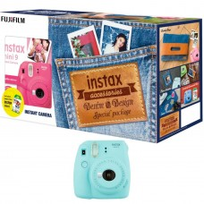 FUJIFILM MINI 9 DENIM PACKAGE ICE BLUE
