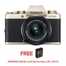 FUJIFILM X-T100 CHAMPAGNE GOLD (W/15-45)