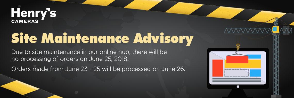 Hub Maintenance Advisory