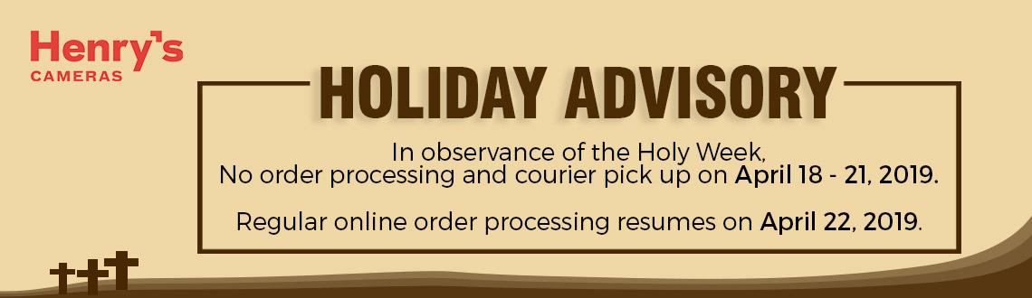 Holy Week Advisory 2019