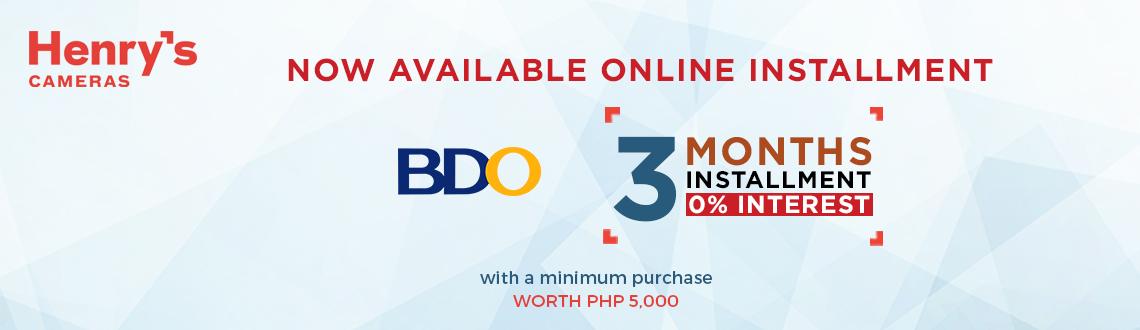 BDO installment 3Months 0% Interest
