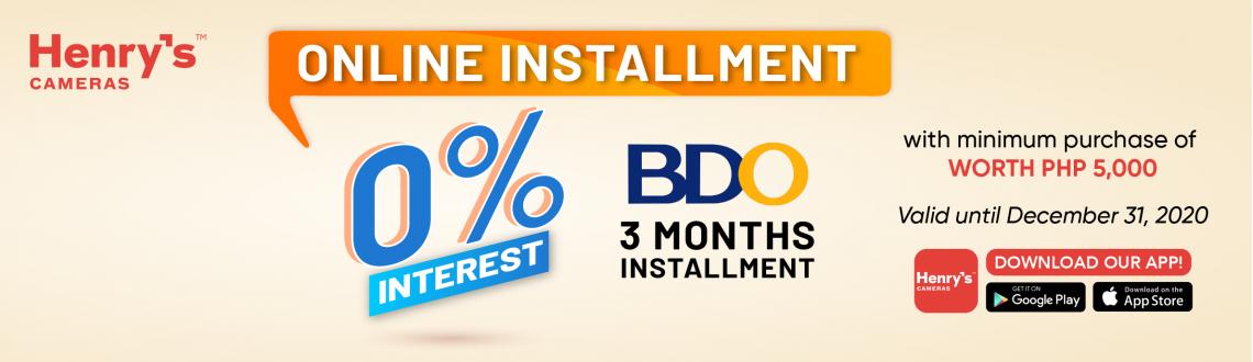 BDO 3 Months 0% Interest