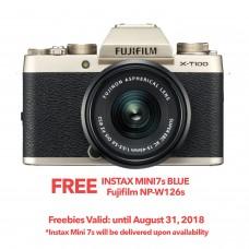 FUJIFILM X-T100 CHAMPAGNE GOLD (W/15-45) [ONLINE PRICE]