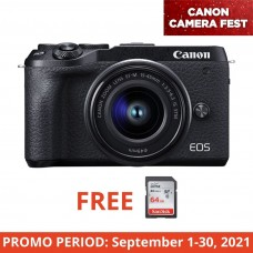CANON EOS M6 II WITH 15-45MM KIT BLACK