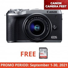 CANON EOS M6 II WITH 15-45MM KIT SILVER