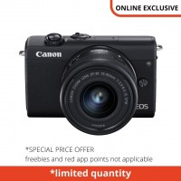 CANON EOS M200 WITH 15-45MM KIT BLACK
