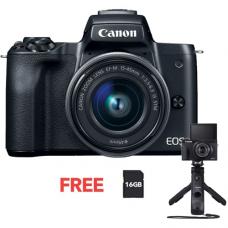CANON EOS M50 15-45mm KIT BLACK + HG-100 TBR BUNDLE