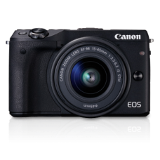 Canon EOS M3 with 15-45mm (KIT) Black [ONLINE PRICE] [FREE MEMORY CARD, BAG, BLOWER KIT, TRIPOD; CANON RED POINTS/REWARD]
