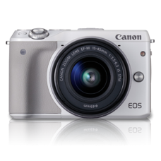 Canon EOS M3 with 15-45mm (KIT) White [ONLINE PRICE] [FREE MEMORY CARD, BAG, BLOWER KIT, TRIPOD CANON RED POINTS/REWARD]
