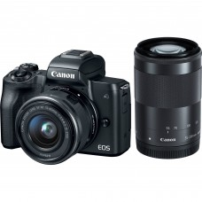CANON EOS M50 with 15-45mm & 55-200 Lens  (BLACK) [ONLINE PRICE]