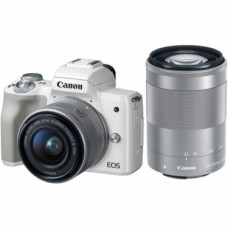 CANON EOS M50 with 15-45mm & 55-200 Lens (WHITE) [ONLINE PRICE]