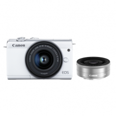 CANON EOS M200 WITH 15-45MM KIT + 22MM BUNDLE WHITE