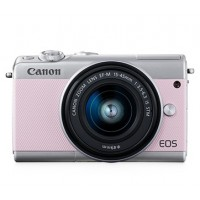 CANON EOS M100 PINK WITH 15-45MM LENS