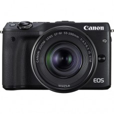 Canon EOS M3 Mirrorless Digital Camera with 15-45mm and 55-200mm Lenses (KIT) Black [ONLINE PRICE]
