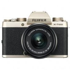 FUJIFILM DIGITAL CAMERA X-T100 CHAMPAGNE GOLD (W/15-45)