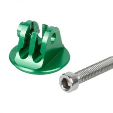 ENOVATION UNIVERSAL ALUM. ALLOY BICYCLE HEADSET MOUNT ADPTR W/ SCREW FOR HERO3+/3/2/1 GREEN