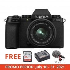 FUJIFILM DIGITAL CAMERA X-S10 W/15-45MM (BLACK)
