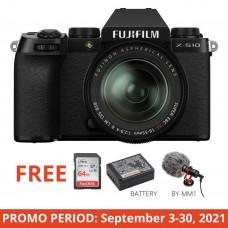 FUJIFILM X-S10 W/18-55MM (BLACK)