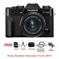 FUJIFILM X-T20 W/ 15-45MM II (BLACK KIT)