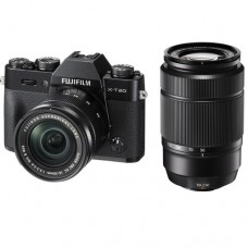 FUJIFILM X-T20 WITH 16-50MM AND 50-230 BLACK (KIT) [ONLINE PRICE] [FREE SANDISK ULTRA 16GB AND EXTRA BATTERY]