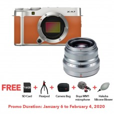 FUJIFILM X-A7 CAMEL WITH XF 35MM F.20 BUNDLE